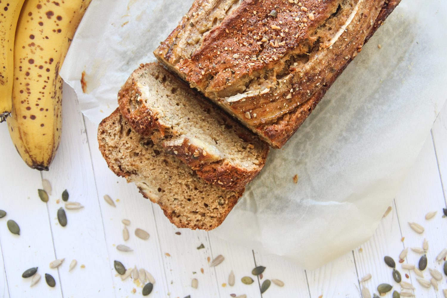 Banana Bread with Seed Brittle