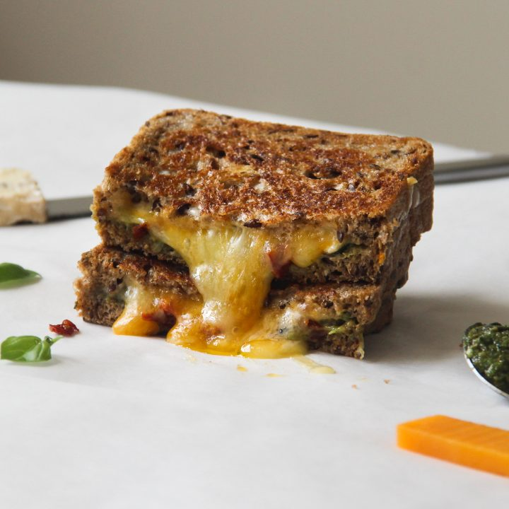 Grilled Cheese and Pesto Sandwich