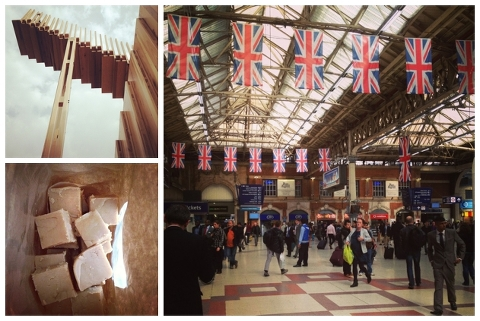 Peanut Butter Fudge (coming soon)/Stairway art/Victoria Station and its flags