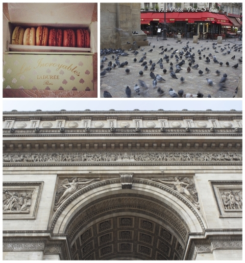 Souvenir/Sunday birds/Arc du Triomphe up close