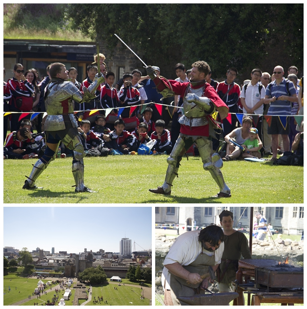 Some light sword fighting/Medieval metal worker/Cardiff