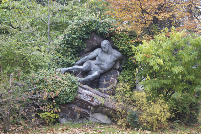 Luxembourg statue is ready for winter hibernation