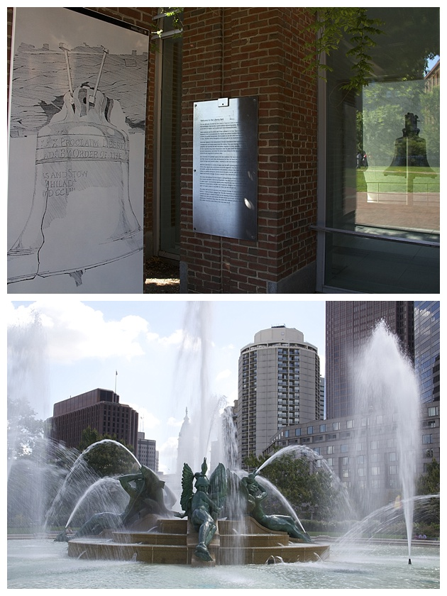Reflection of the Liberty Bell/Swann Memorial Fountain