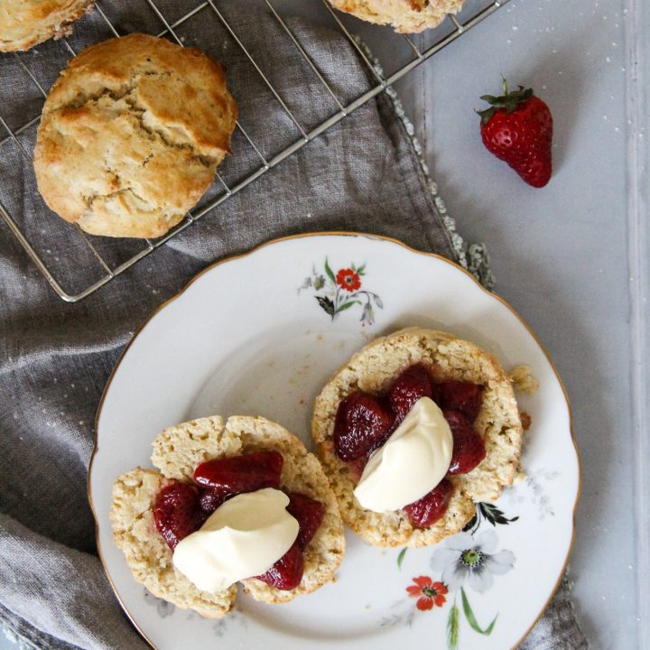 Scones with Roasted Strawberries
